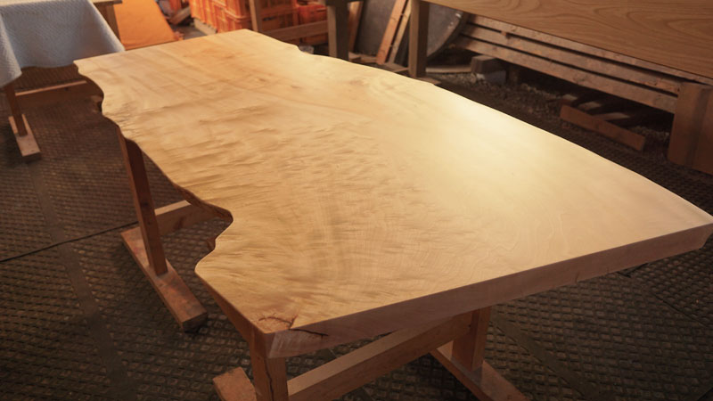 栃一枚板テーブル天板