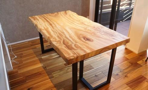 楠一枚板ダイニングテーブル