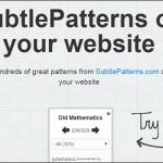 SubtlePatterns Bookmarklet