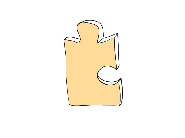 パズルの角
