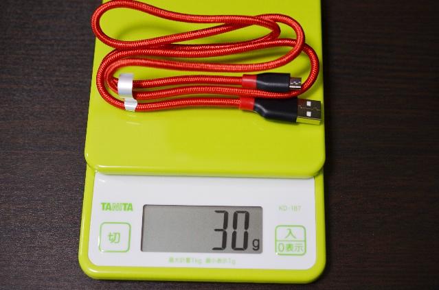 Anker USBケーブルの重さ