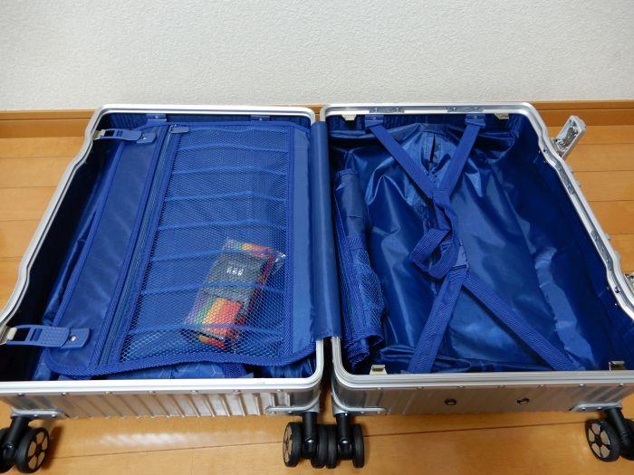 【タビトラ】TABITORA スーツケースSSの中身