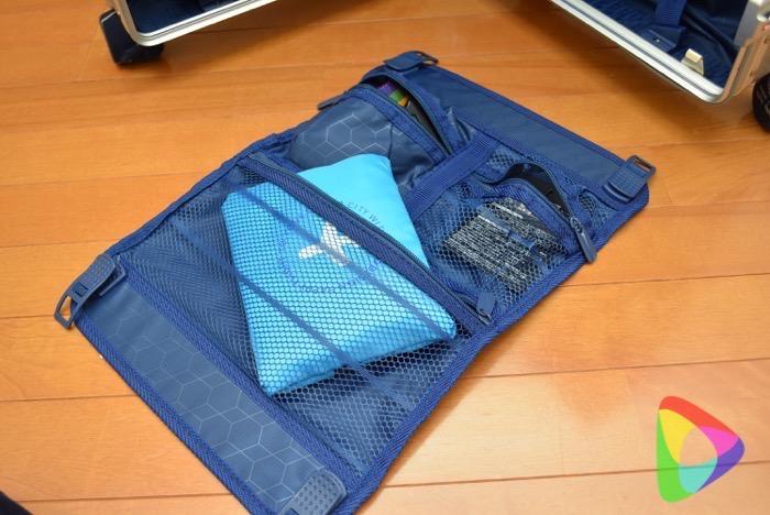 タビトラのスーツケース収納スペース