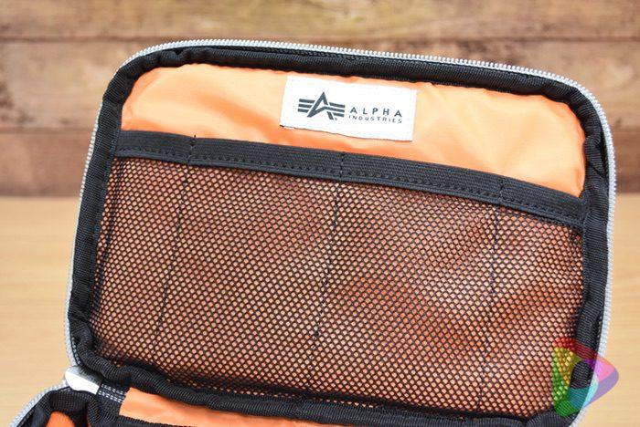 カメラインナーバッグ(アルファ)内部のメッシュポケット