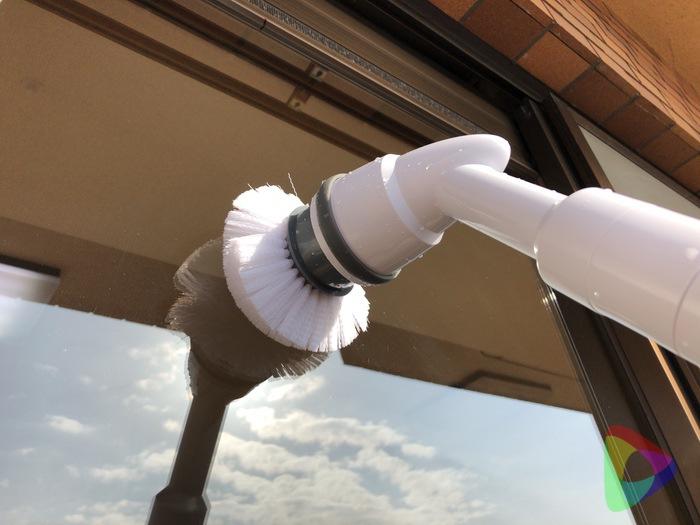 ターボスクラブで窓掃除