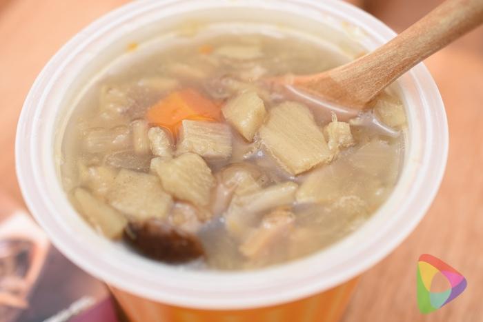 「奥入瀬ごぼう」をふんだんに使った生姜入りごろごろ野菜のスープ