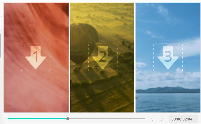 Instagramなどのソーシャルメディアに最適な画面分割テンプレート