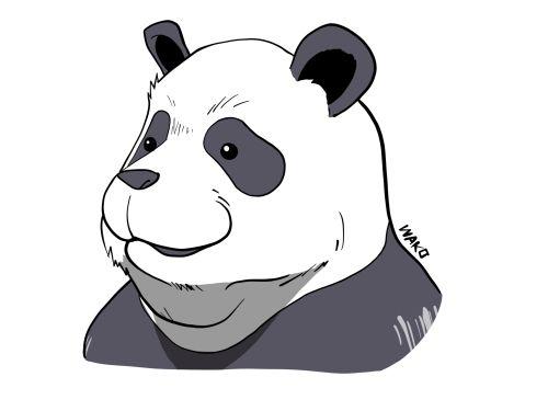 パンダ先輩 絵・イラスト