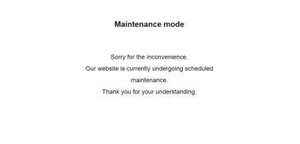 WP Maintenance Modeで作ったメンテナンス画面