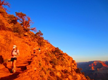 Francine, Heather & Lauren making their way down South Kaibab.