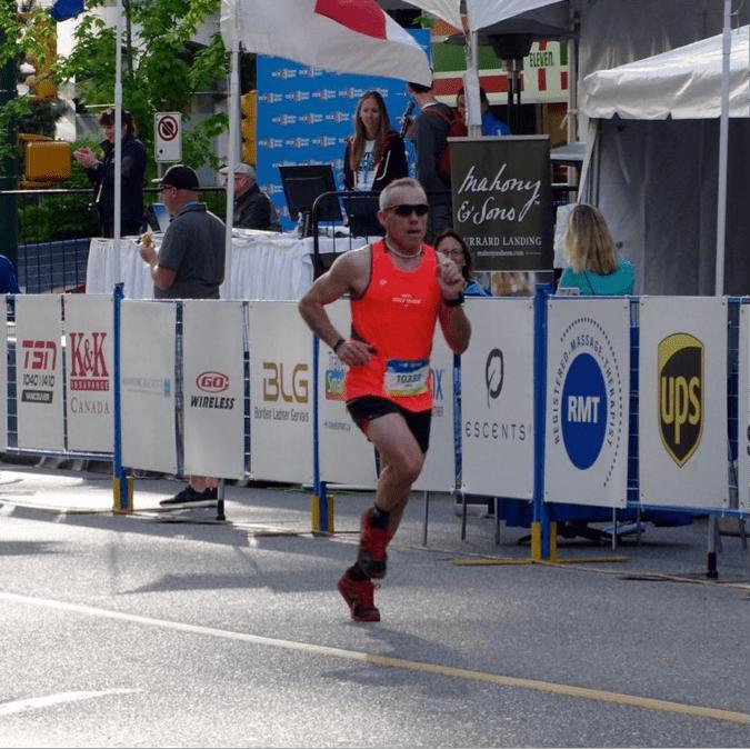 Mike Palichuk at the BMO Marathon
