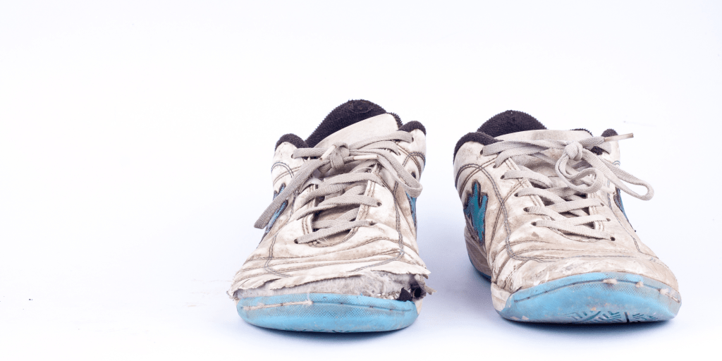 Do your shoes look like this? It might be just one of the many signs you need to replace your shoes.