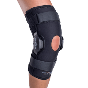 Donjoy deluxe hinged knee oa brace