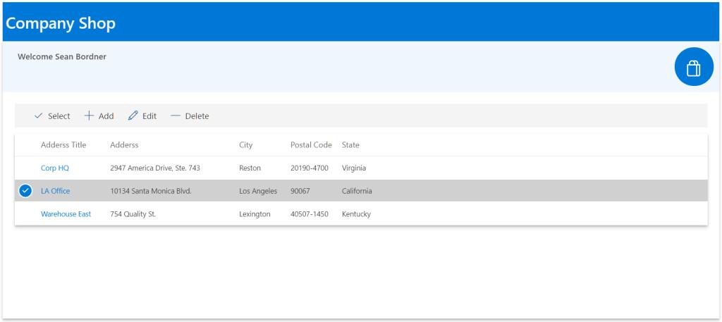 Kintivo Cart for SharePoint Online - Address Book