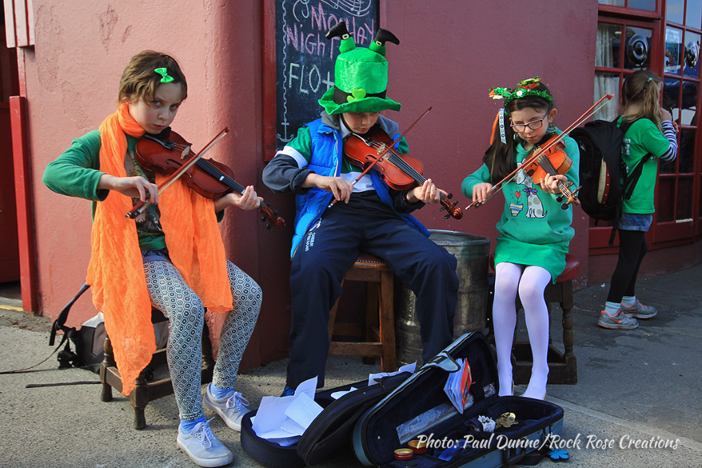 Street music at the Kinvara St. Patrick's Day Parade