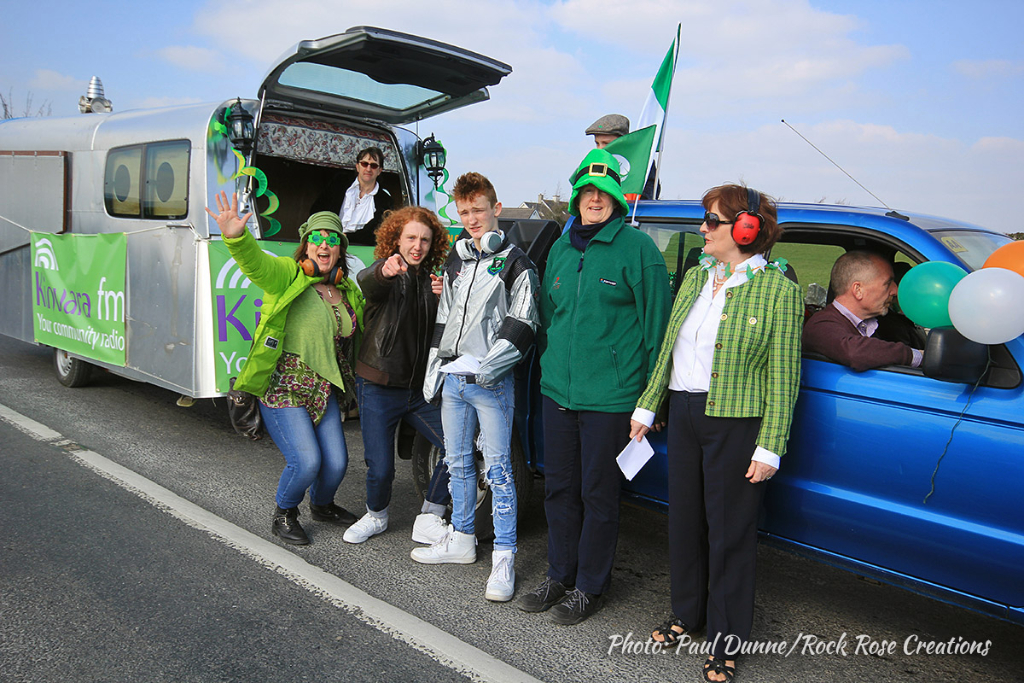 Some of the Kinvara FM crew with their float