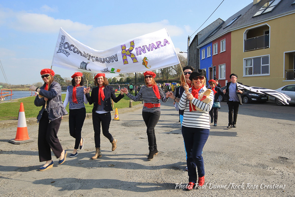 Kinvara Camogie Club at the  Kinvara St. Patrick's Day Parade