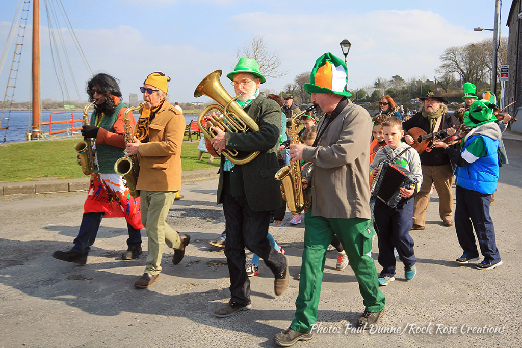 Kinvara St. Patrick's Day Parade - is that Frank Hall in disguise?