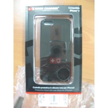 CUSTODIA X APPLE IPHONE5 SCP30038 SWISS CHARGER IN SILICONE NERO