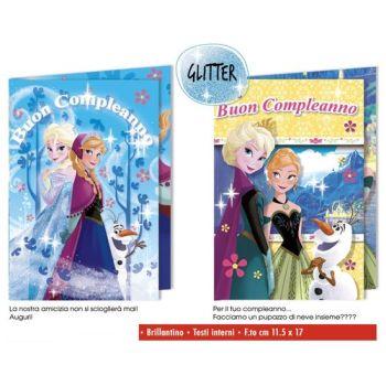 BIGLIETTI FROZEN - GLITTER  C.12