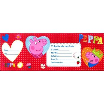 INVITI PARTY PEPPA PIG