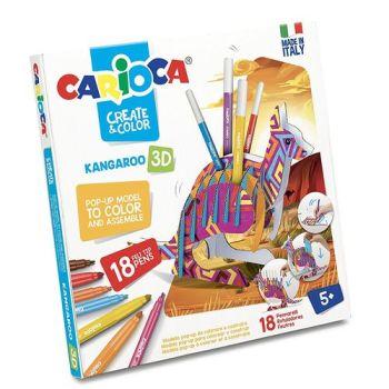 CARIOCA CREATE & COLOR KANGAROO 18PZ     POP-UP DA COLORARE E COSTRUIRE