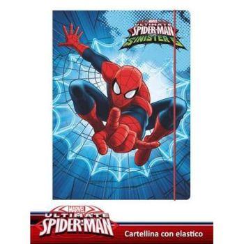 CARTELLINA CON ELASTICO SPIDERMAN