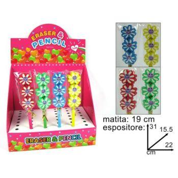 MATITE C/GOMMA 3 FIORI