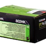 Lexmark 80C2HK0 Toner nero return program