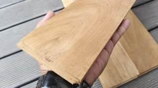 Flooring kayu jati ukuran jumbo