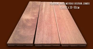Flooring Kayu Merbau Ukuran Jumbo