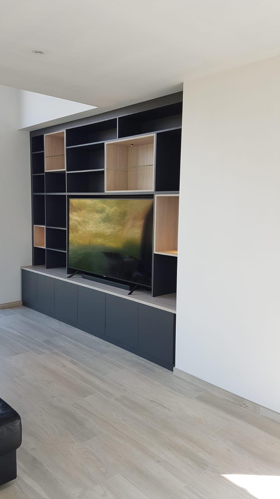 meuble tv entre deux murs kiosque
