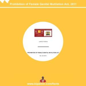 Prohibition of Female Genital Mutilation Act – Tweetables