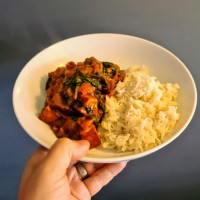 Paneer, Tomato and Spinach Curry