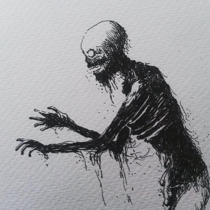 Zombie | Illustration af Kira Bang-Olsson