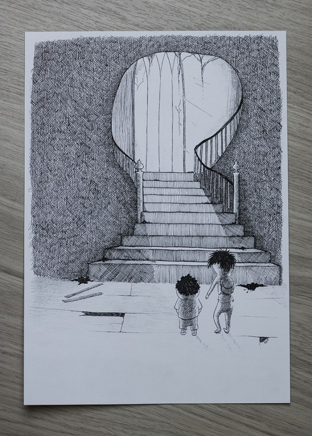 The Abandoned House - Illustration by Kira Bang-Olsson