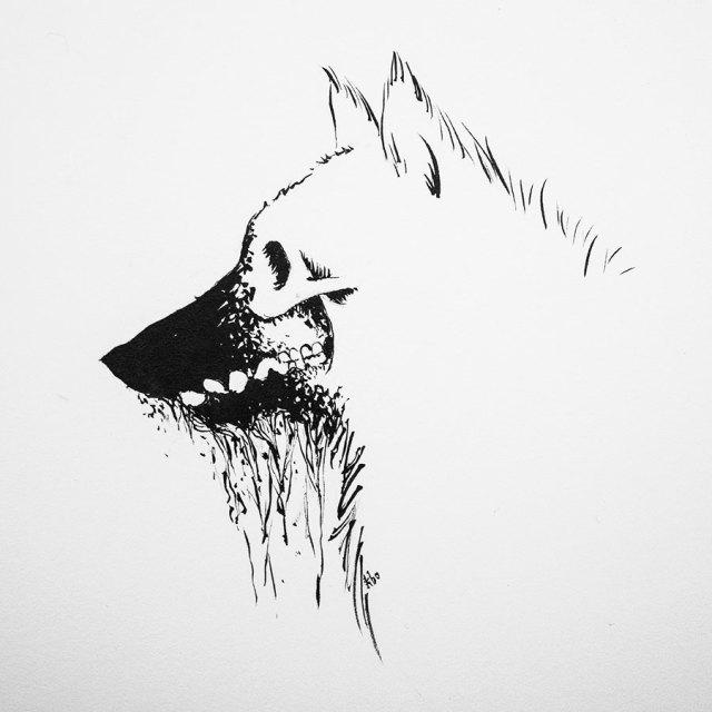 Werewolf illustration by Kira Bang-Olsson