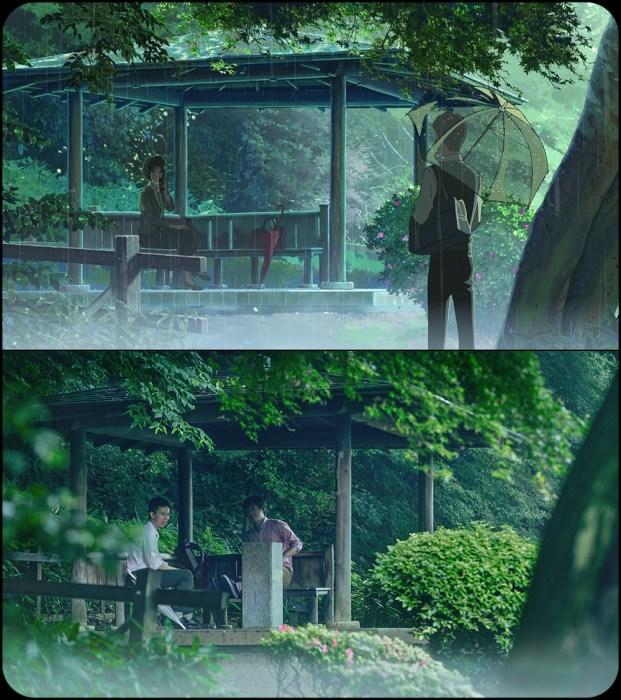 El jard n de las palabras kirai un geek en jap n for El jardin de las palabras filmaffinity