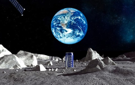 Pocari Sweat on the moon