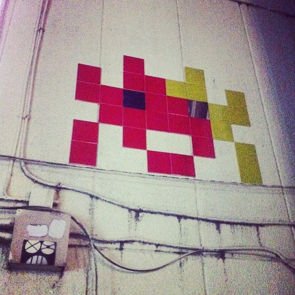 space invaders street art