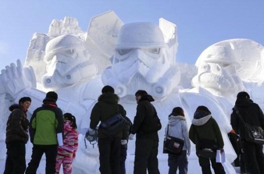 star wars ice statue