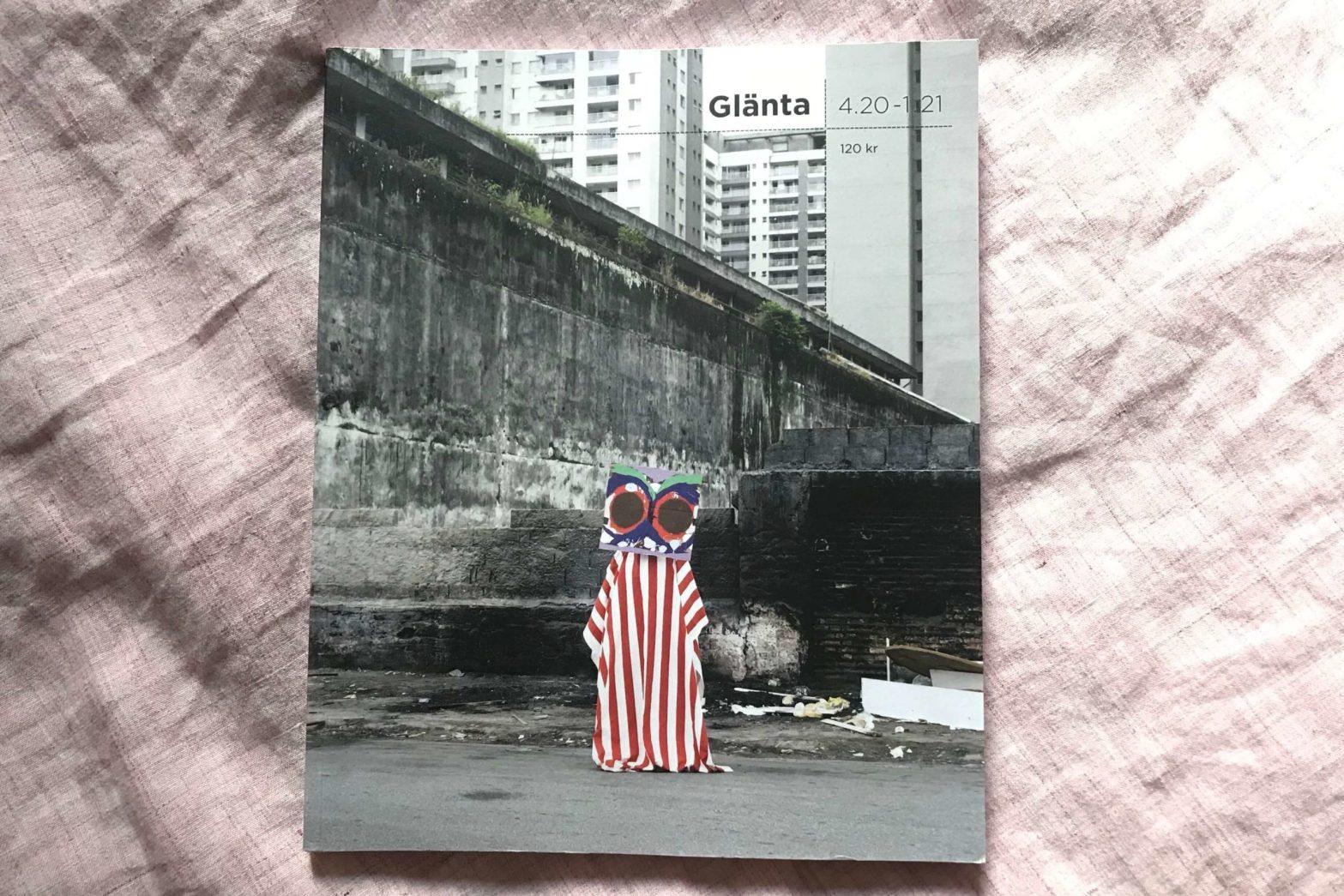 """Cover of spring 2021 issue of Glänta, containing Kira Josefsson's essay """"Rättvisa utan fängelse och polis""""."""