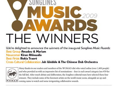 Songlines 2009 Best Newcomer Award