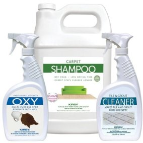 Kirby carpet shampoo and spot removers
