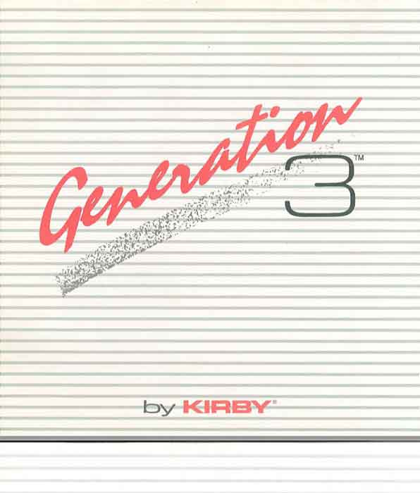 Download the Kirby Generation 3 Owner Manual.