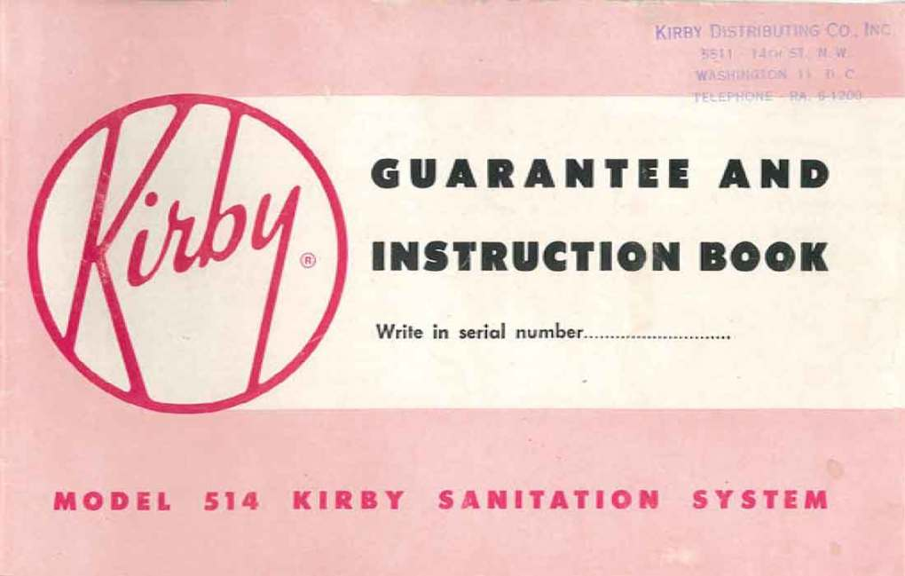 Download the Kirby Model 514 Owner Manual.