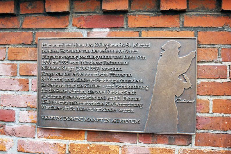 St. Martini: Gedenktafel für Nikolaus Krage