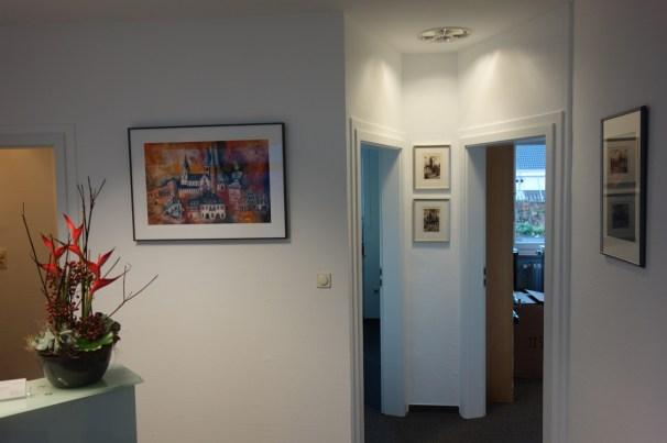 Büros in der unteren Etage