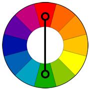 Комплиментарный способ сочетания цвета