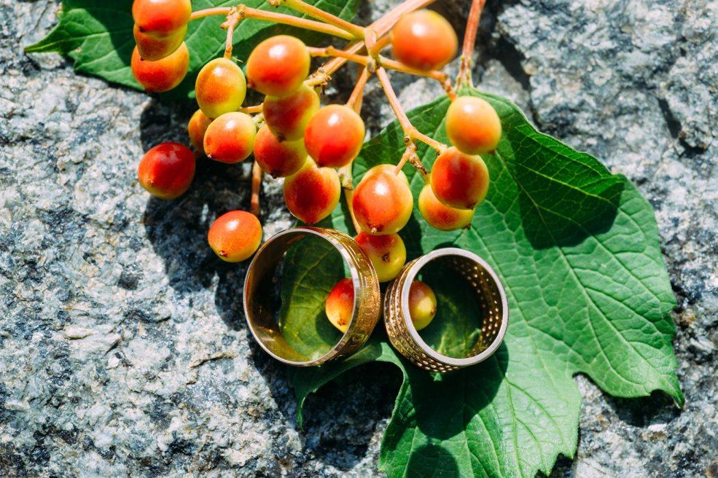 Свадебная фотосессия обручальные кольца